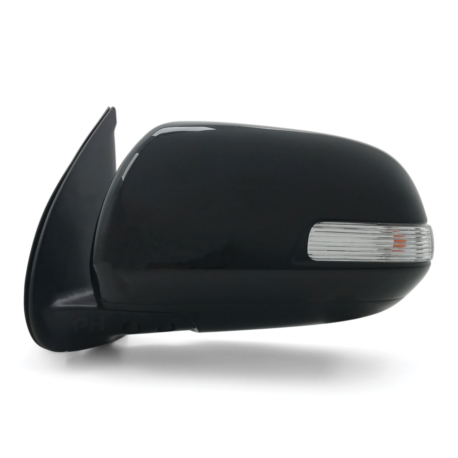 Door Mirror Blinker And Cover Left Black Fits Toyota Hilux