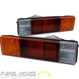 Mitsubishi Triton MK Ute 86-06 Pair LH RH Tray Back Tail Light Round Plug NEW