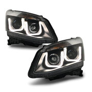 Isuzu D-MAX DMAX Ute 2012 - 2016 PAIR LH+RH M6 Style Black Projector Head Light NEW