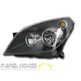 Holden AH Astra '04-'06 NEW Left Hand Replacement BLACK Head Light LHS ADR Lamp