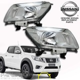 NEW Nissan NP300 D23 Navara Head Light PAIR Left Right GENUINE Lamps No DRL Type