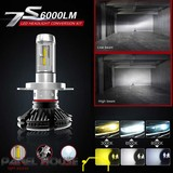 H4 Bulb Conversion Kit Phillips LED Lumiled Head Light Hi Low Beam 6000K Upgrade
