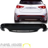 Mazda 3 BM Hatch '14- REAR Bar Lower Lip KUROI Carbon Spoiler Skirt Twin Muffler
