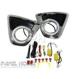 Mazda CX-5 CX5 KE 12-14 Chrome Fog Lamp Replacement LED Halo Bezel Complete SET