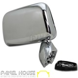 Chrome Door Mirror RIGHT Skin Mount Door with Cap RH for Toyota Hilux 1988-2005