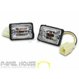 HILUX Guard Repeater CLEAR Set Altezza Style Suit 89-97 & NEW Globes AMBER Bulbs