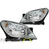Holden AH Astra '04-'06 Sedan Wagon Hatch PAIR LH+RH CHROME Head Light NEW Lamp
