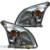 NEW Toyota Landcruiser Prado 120 Series Headlight Chrome PAIR  '02-'09 Set