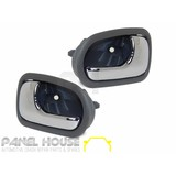 Ford Laser KN KQ Sedan 98-02 FRONT L+R Interior Chrome Grey Door Handle Inner
