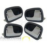 Ford KN KQ LASER Sedan Hatch 98-02 Interior Chrome Grey Handle Inner SET x4