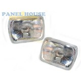 Ford Courier PC Ute 85-96 7x5 Pair Of Headlights With H4 Bulb Brand New