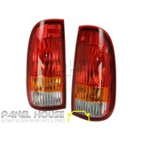 Tail Lights PAIR fits Ford F-Truck F250 F350 SUPER DUTY 01-07 ADR 3 Colour