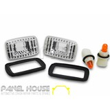 Indicator Lights PAIR Clear Fits Toyota LANDCRUISER 76 78 79 Series 2007-2018