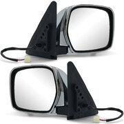 Door Mirrors PAIR Chrome Electric Fits Toyota Landcruiser 100 Series 1998 - 2007