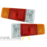 Taillights PAIR with Wiring and Bulbs Fits Toyota Hilux 2005 - 2011 Trayback