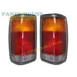 Tail Lights PAIR Grey Trim fits Ford Courier Mazda B Series