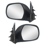 Door Mirrors PAIR Black Electric Fits Toyota Hiace LWB SLWB Commuter 2005-2013