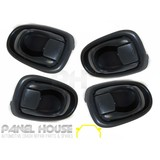 Hyundai Lantra J2 95-98 Set x4 Interior Door Handle Dark Grey Inner NEW