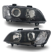 Headlights Projector Black PAIR fits Holden Commodore VE SSV HSV Calais 06-10