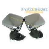 Nissan Navara D21 86 - 97 Chrome  Skin Mount Door Mirrors Pair 1xLH 1xRH Brand New