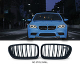 Kidney Grill FRONT Gloss Black M5 Style Fits BMW 5 Series F10/F11 LCI 2014-2016