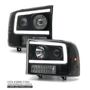 PREORDER Headlights LED DRL Style Fits Ford F250 SuperDuty 1999-2005 - PAIR