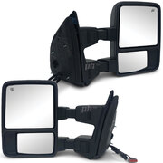 Extendable Towing Mirrors PAIR Heated Indicator fits Ford F250 350 2008 - 2015