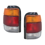 Tail Lights PAIR Clear Lens fits Holden Commodore VN VP VR VS Wagon / Ute PR
