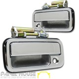 Door Handle Chrome Front Outer Pair (1 LH & 1 RH) fits Holden Rodeo TF Ute '88-'02