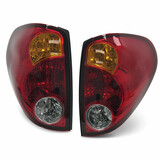 Tail Lights PAIR fits Mitsubishi Triton ML MN 2006 - 2015 ADR Wiring & Bulbs