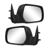 Door Mirror Black Manual Pair RH & LH to suit Mazda BT50 06-11 & Ford Ranger PJ PK 06-11