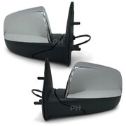 Door Mirror Chrome Electric Pair to suit Mazda BT50 06-11 & Ford Ranger PJ PK 06-11
