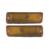 Indicator Bar Light PAIR Front Amber Fits Toyota Hilux Ute 88-97