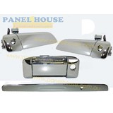 Exterior Door Handles FULL SET OF 3 Tailgate Garnish Fits Toyota Hiace Van 2005-2013