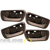 Door Handle FULL SET OF 4 Inner Brown Chrome Fits Toyota Camry 36 Series 02-06