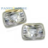 Headlights PAIR 7x5 Rectangle Sealed Beam New Fits Toyota Hilux Ute 78-83