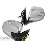 Door Mirrors PAIR Electric Chrome With Blinker Fits Toyota Hiace 2005-2016