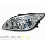 Hyundai i30 '07-'10 Hatch Wagon LHS Left Replacement CHROME Head Light NEW Lamp