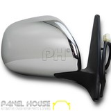 Door Mirror RIGHT Chrome Electric Fits Toyota Landcruiser Prado 120 Series