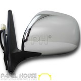 Door Mirror LEFT Chrome Electric Fits Toyota Landcruiser Prado 120 Series