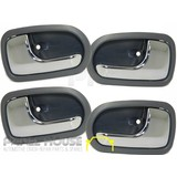Mazda 323 BJ Astina Hatch 98-03 SET x4 Interior Chrome Grey Handle Inner NEW