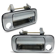 Door Handles Chrome PAIR Front Outer Fits Toyota Landcruiser 80 Series