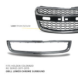 Lower Grill Mould CHROME Fits Holden RG Colorado 2012 - 2016