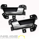 Door Handles PAIR Front Inner SATIN fits Ford Falcon FG Series Sedan Ute 08-14