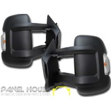 Door Mirrors PAIR Electric Long Arm Suit MOTORHOME fits Fiat Ducato 06-13