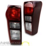 NEW Isuzu D-MAX Ute 2014 On PAIR Rear Dmax TINTED Tail Light Lamp LH RH Non LED