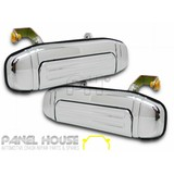 Mitsubishi Pajero NL Wagon '98-'00 LH+RH Side REAR Chrome Outer PAIR Door Handle NEW