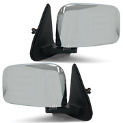 Nissan Patrol GU Series 1 2 & 3 Wagon PAIR LH+RH CHROME Electric Door Mirror NEW