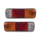 Universal Tray Back Ute PAIR LH+RH Red Amber & Clear Tail Lights *NEW* Lamps
