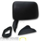 Door Mirror LEFT Black Skin Mount Door with Cap Fits Toyota Hilux 88-05